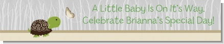 Baby Turtle Neutral - Personalized Baby Shower Banners
