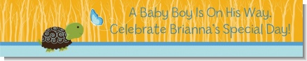Baby Turtle Blue - Personalized Baby Shower Banners
