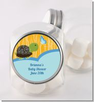 Baby Turtle Blue - Personalized Baby Shower Candy Jar