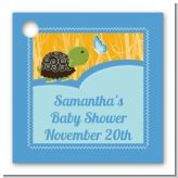 Baby Turtle Blue - Personalized Baby Shower Card Stock Favor Tags