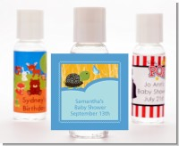 Baby Turtle Blue - Personalized Baby Shower Hand Sanitizers Favors