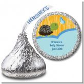 Baby Turtle Blue - Hershey Kiss Baby Shower Sticker Labels