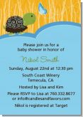 Baby Turtle Blue - Baby Shower Invitations