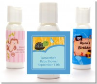 Baby Turtle Blue - Personalized Baby Shower Lotion Favors