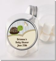 Baby Turtle Neutral - Personalized Baby Shower Candy Jar