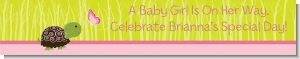 Baby Turtle Pink - Personalized Baby Shower Banners