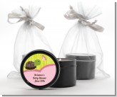 Baby Turtle Pink - Baby Shower Black Candle Tin Favors