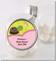 Baby Turtle Pink - Personalized Baby Shower Candy Jar