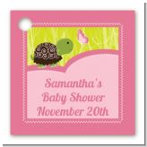 Baby Turtle Pink - Personalized Baby Shower Card Stock Favor Tags
