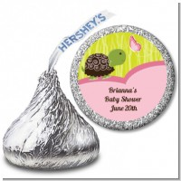 Baby Turtle Pink - Hershey Kiss Baby Shower Sticker Labels