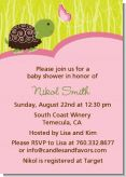 Baby Turtle Pink - Baby Shower Invitations