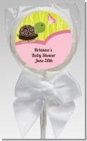 Baby Turtle Pink - Personalized Baby Shower Lollipop Favors