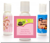 Baby Turtle Pink - Personalized Baby Shower Lotion Favors
