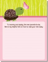 Baby Turtle Pink - Baby Shower Notes of Advice