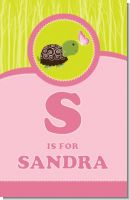 Baby Turtle Pink - Personalized Baby Shower Nursery Wall Art