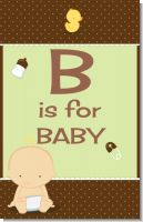 Baby Neutral Caucasian - Personalized Baby Shower Nursery Wall Art