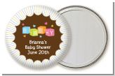 Baby Blocks - Personalized Baby Shower Pocket Mirror Favors
