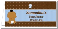 Baby Boy African American - Personalized Baby Shower Place Cards