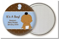 Baby Boy African American - Personalized Baby Shower Pocket Mirror Favors