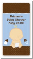 Baby Boy Caucasian - Custom Rectangle Baby Shower Sticker/Labels