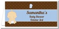 Baby Boy Caucasian - Personalized Baby Shower Place Cards