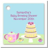 Baby Brewing Tea Party - Personalized Baby Shower Card Stock Favor Tags