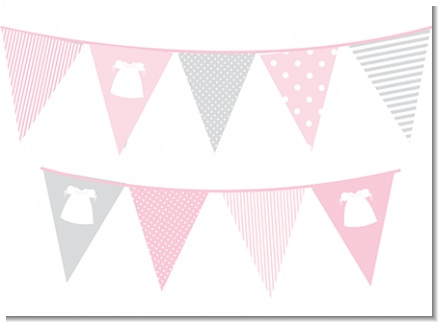 Sweet Little Lady - Baby Shower Themed Pennant Set