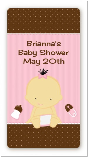 Baby Girl Asian - Custom Rectangle Baby Shower Sticker/Labels