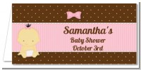 Baby Girl Asian - Personalized Baby Shower Place Cards