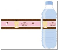 Baby Girl Asian - Personalized Baby Shower Water Bottle Labels