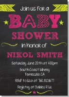 Baby Girl Chalk Inspired - Baby Shower Invitations