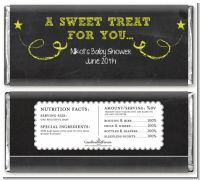 Baby Girl Chalk Inspired - Personalized Baby Shower Candy Bar Wrappers