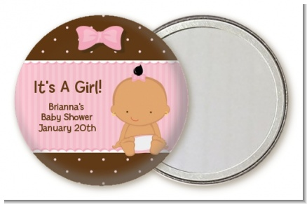 Baby Girl Hispanic - Personalized Baby Shower Pocket Mirror Favors