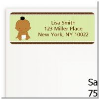 Baby Neutral African American - Baby Shower Return Address Labels