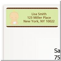 Baby Neutral Caucasian - Baby Shower Return Address Labels