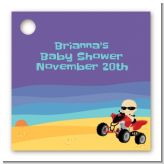 Baby On A Quad - Personalized Baby Shower Card Stock Favor Tags