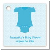Baby Outfit Blue - Personalized Baby Shower Card Stock Favor Tags