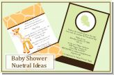 Neutral Baby Showers Invitations