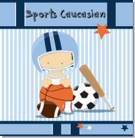 Sports Baby Caucasian Baby Shower Theme
