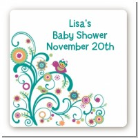 Baby Sprinkle - Square Personalized Baby Shower Sticker Labels