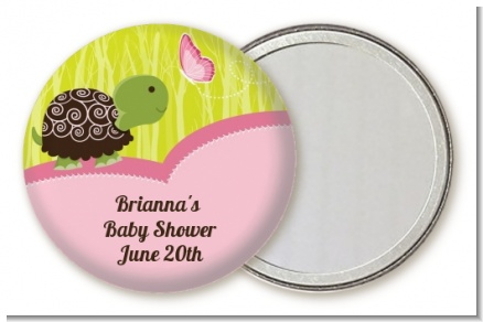 Baby Turtle Pink - Personalized Baby Shower Pocket Mirror Favors