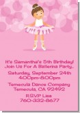 Ballet Dancer - Birthday Party Invitations
