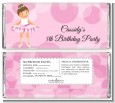 Ballet Dancer - Personalized Birthday Party Candy Bar Wrappers thumbnail