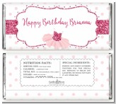 Ballerina - Personalized Birthday Party Candy Bar Wrappers
