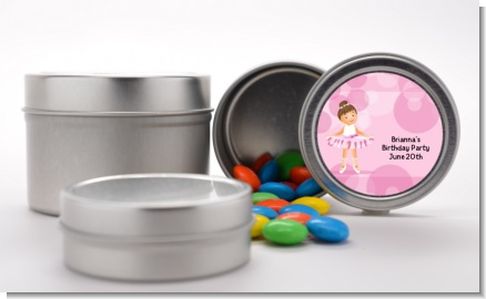 Ballet Dancer - Custom Birthday Party Favor Tins