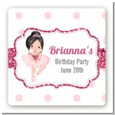 Ballerina - Square Personalized Birthday Party Sticker Labels