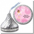 Ballet Dancer - Hershey Kiss Birthday Party Sticker Labels thumbnail