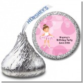 Ballet Dancer - Hershey Kiss Birthday Party Sticker Labels