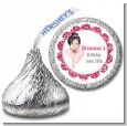 Ballerina - Hershey Kiss Birthday Party Sticker Labels thumbnail