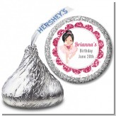 Ballerina - Hershey Kiss Birthday Party Sticker Labels
